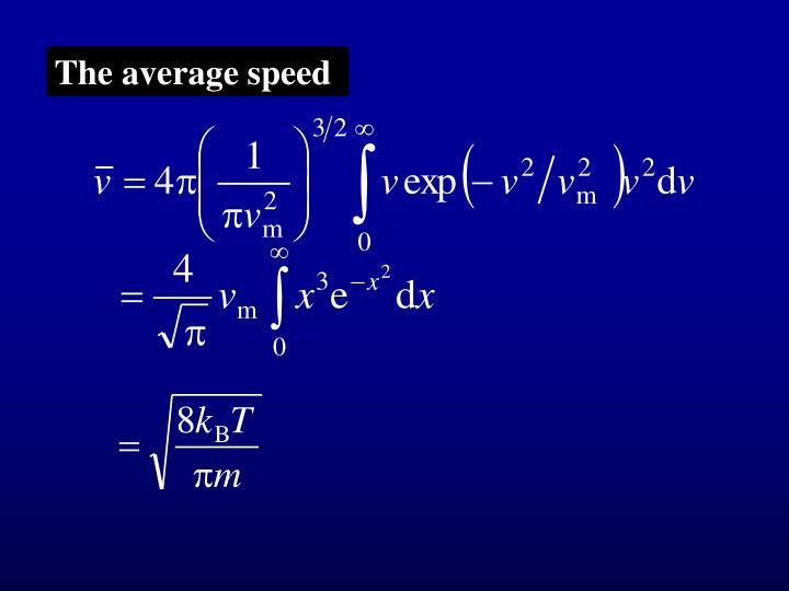 The average speed