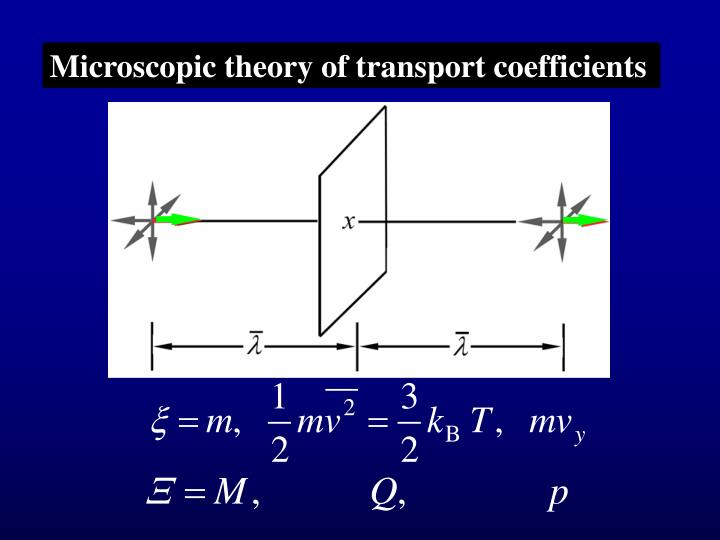 Microscopic theory of transport coefficients