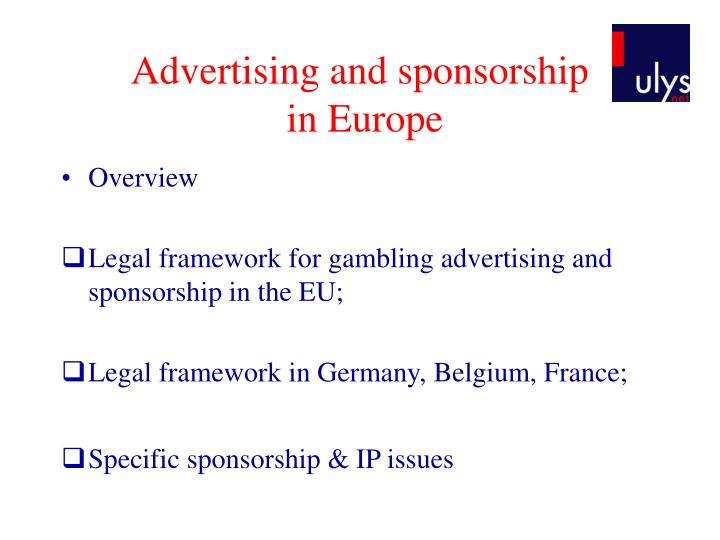 Advertising and sponsorship in europe1