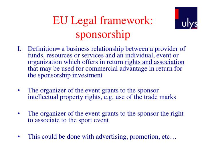 EU Legal framework: