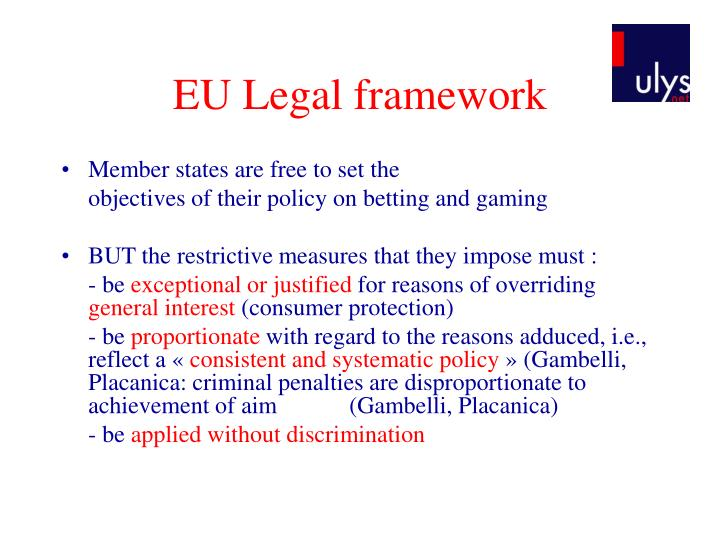 EU Legal framework