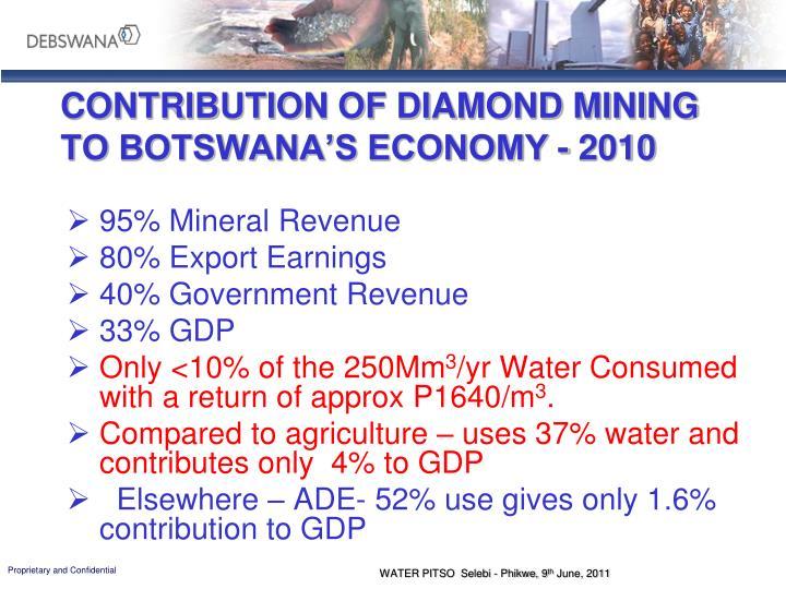 CONTRIBUTION OF DIAMOND MINING