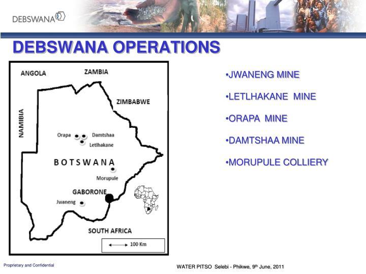Debswana operations