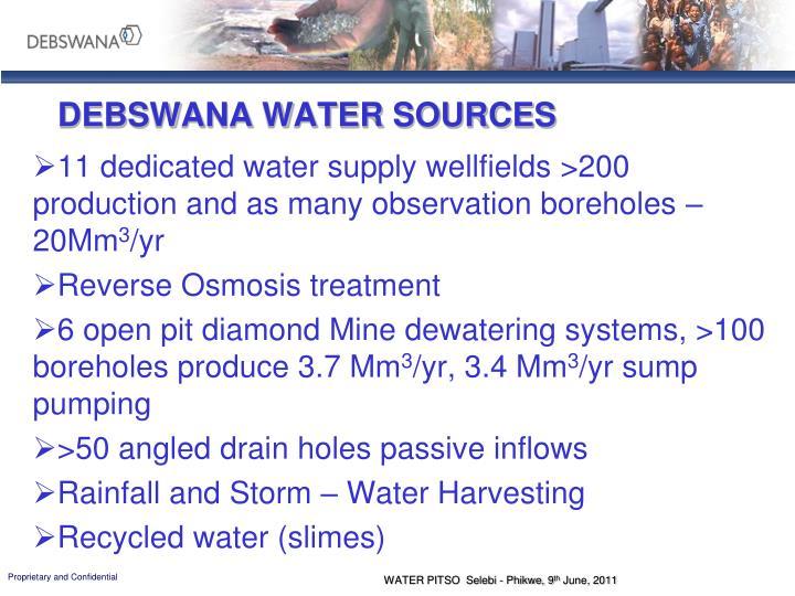 DEBSWANA WATER SOURCES