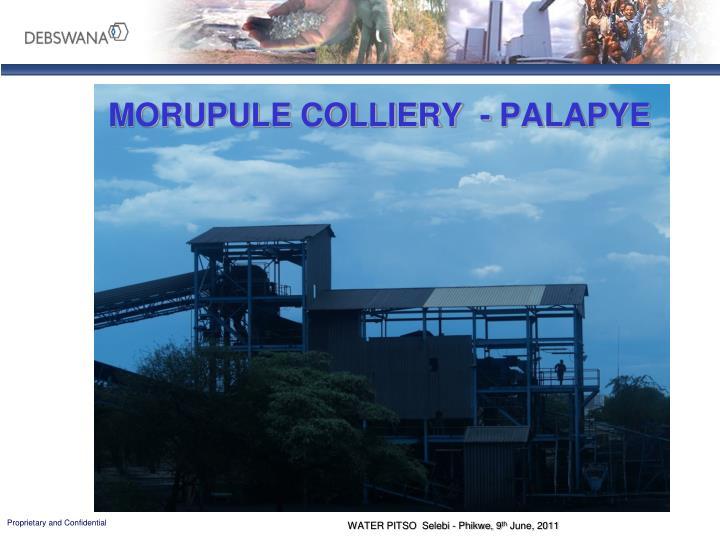 MORUPULE COLLIERY  - PALAPYE