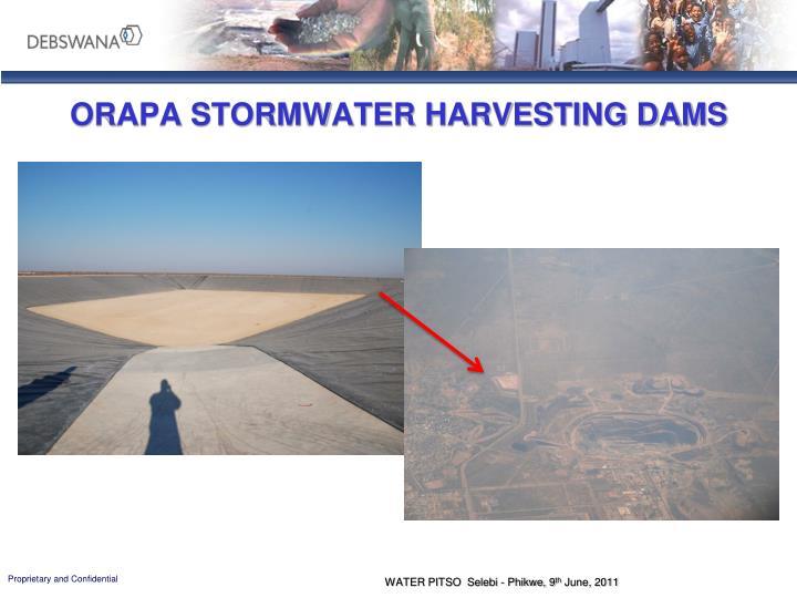 ORAPA STORMWATER HARVESTING DAMS