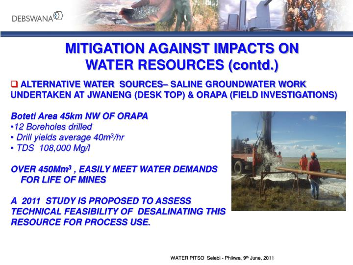 MITIGATION AGAINST IMPACTS ON