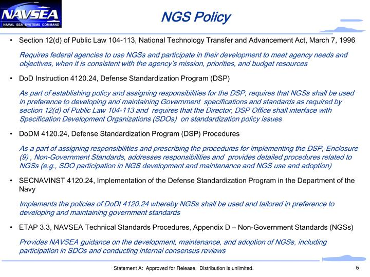 NGS Policy