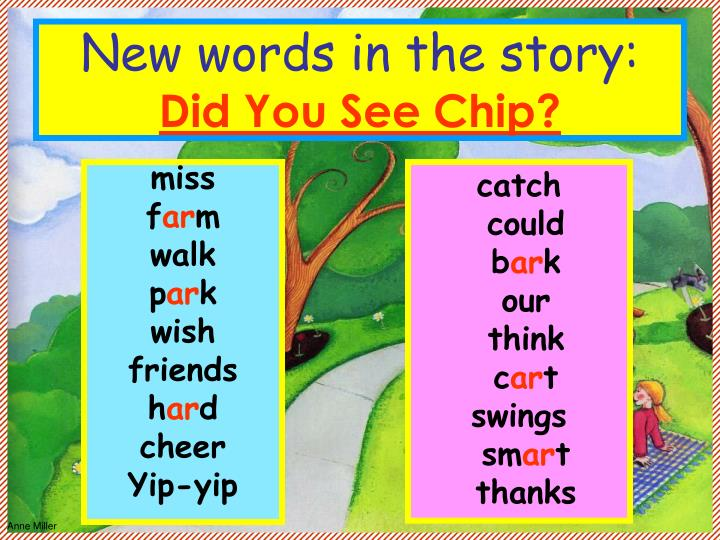 New words in the story:
