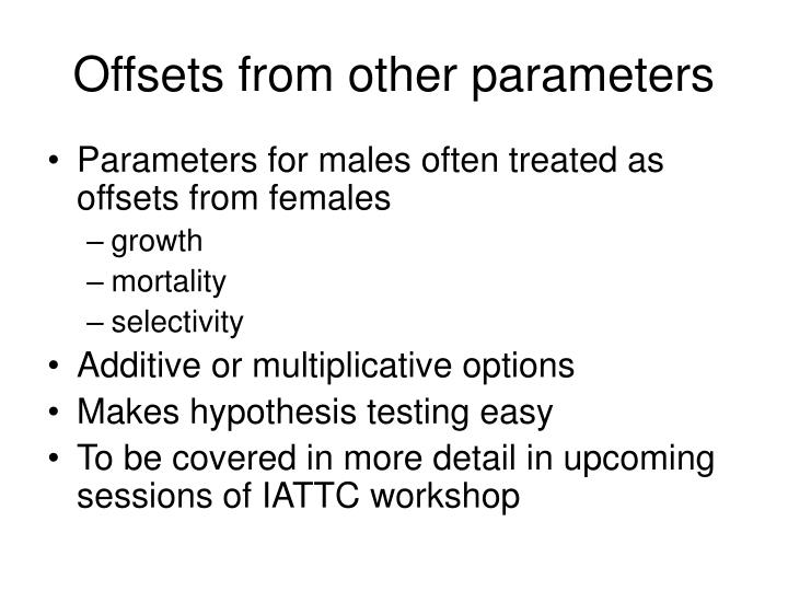 Offsets from other parameters