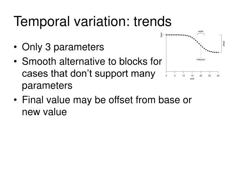 Temporal variation: trends