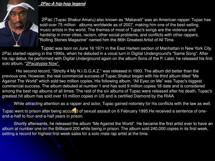 2Pac-A hip-hop legend