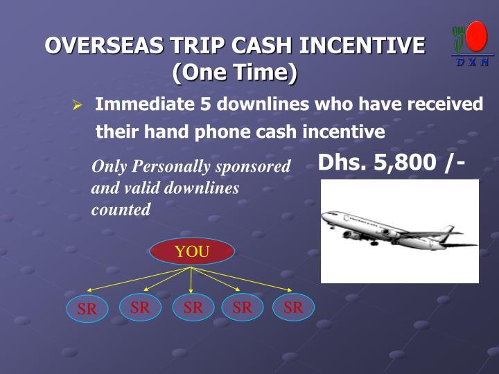 OVERSEAS TRIP CASH INCENTIVE