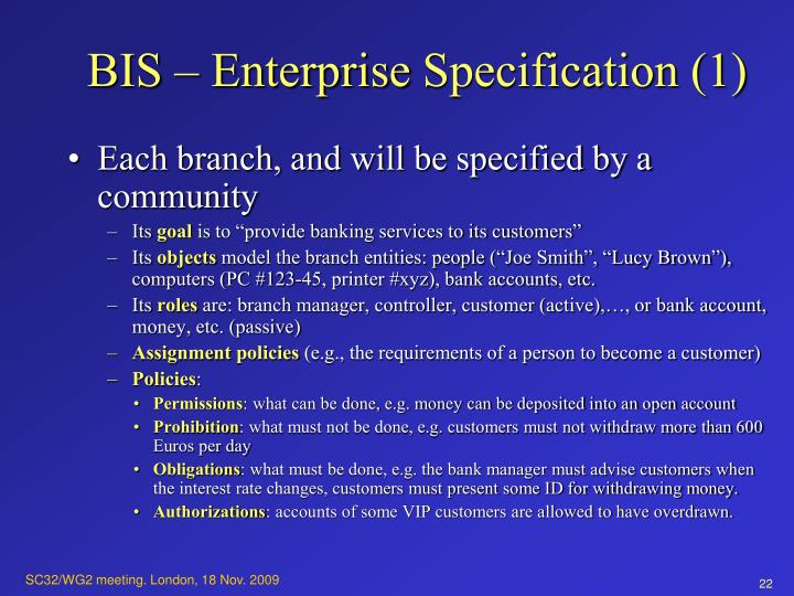 BIS – Enterprise