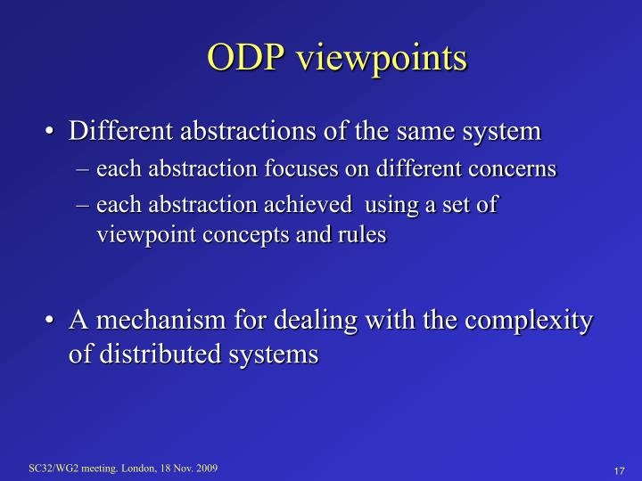 ODP viewpoints