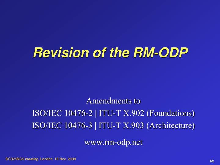 Revision of the RM-ODP