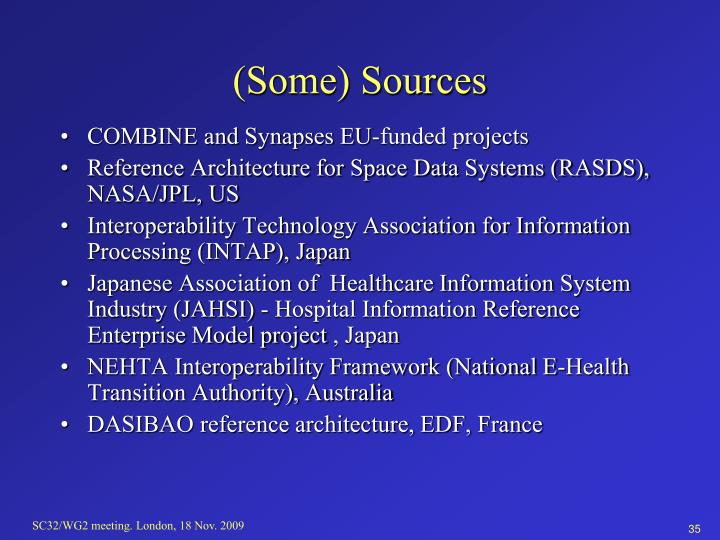 (Some) Sources