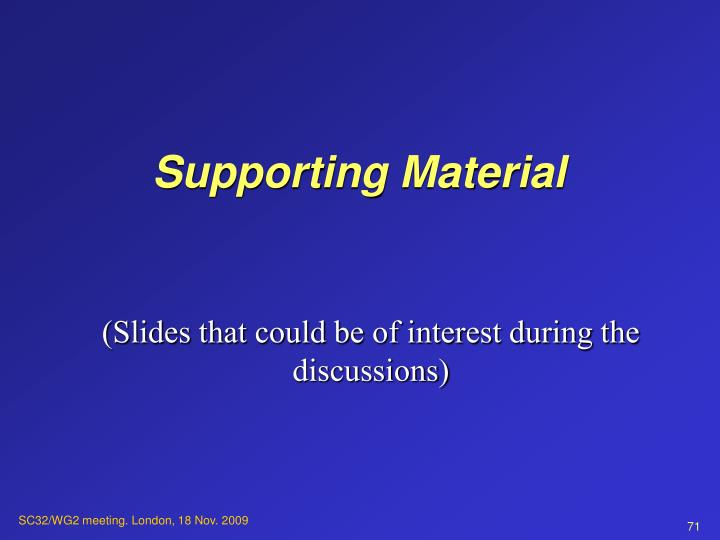 Supporting Material