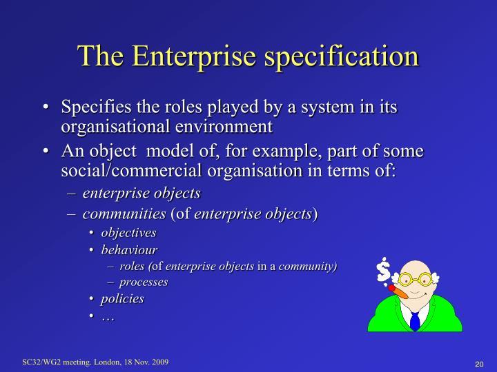 The Enterprise specification