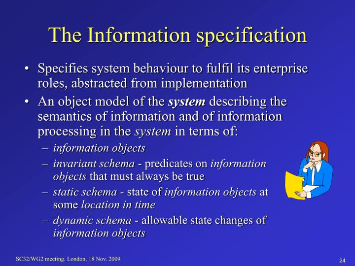 The Information specification