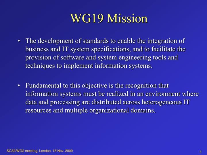 Wg19 mission