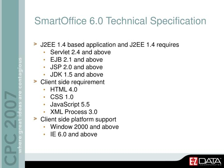 SmartOffice 6.0 Technical Specification