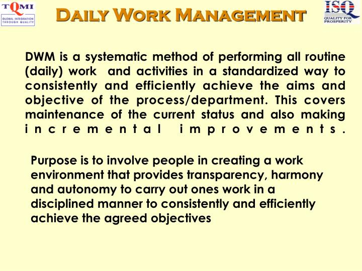 Daily Work Management
