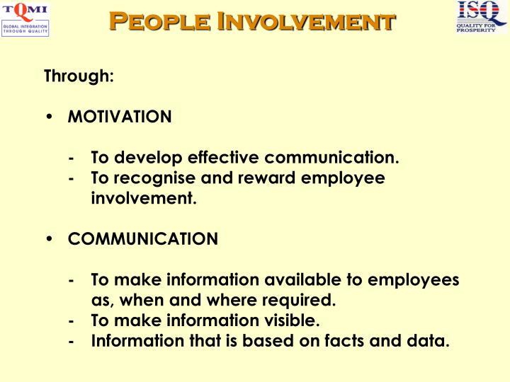 People Involvement