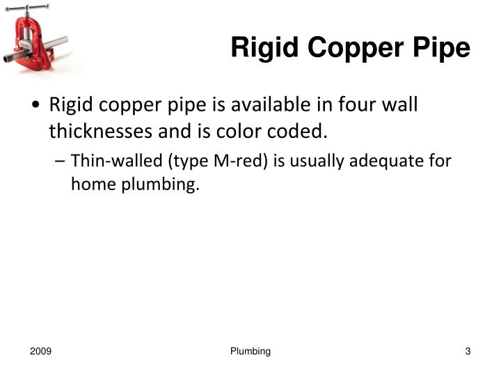 Rigid copper pipe