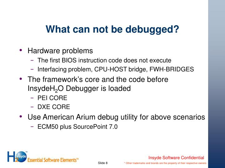 What can not be debugged?
