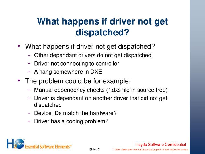 What happens if driver not get dispatched?
