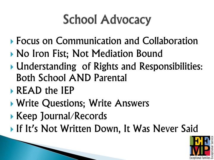 School Advocacy