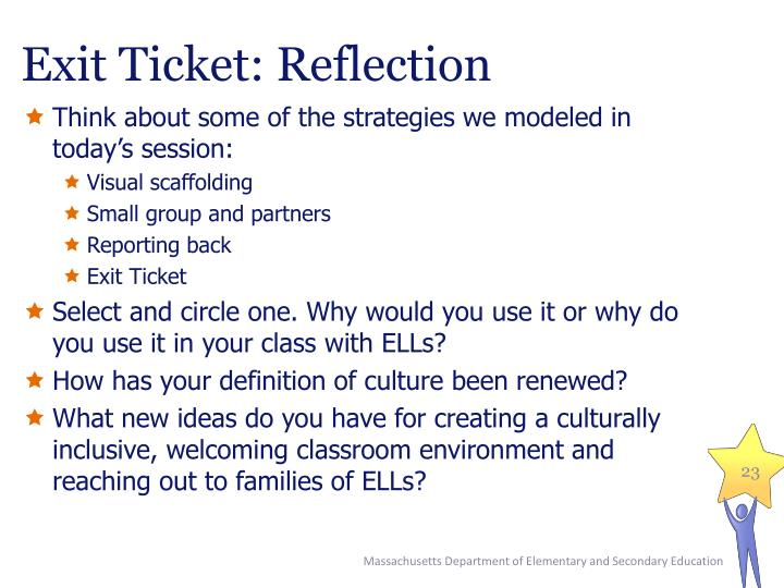 Exit Ticket: Reflection