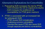 alternative explanations for comorbidity