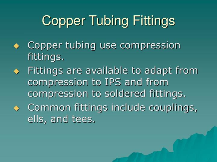Copper Tubing Fittings