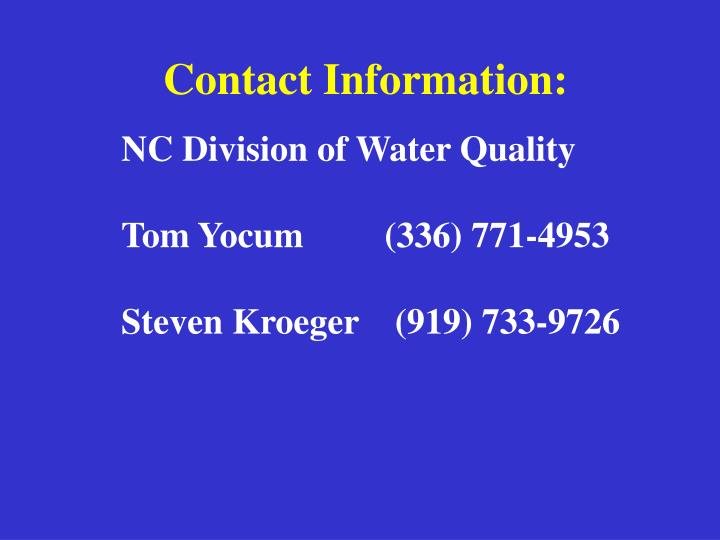 NC Division of Water Quality