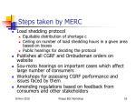 steps taken by merc