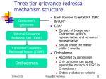 three tier grievance redressal mechanism structure