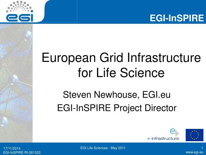 european grid infrastructure for life science n.