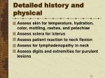 detailed history and physical