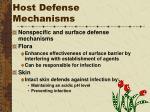 host defense mechanisms