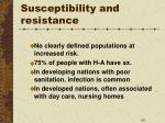 susceptibility and resistance