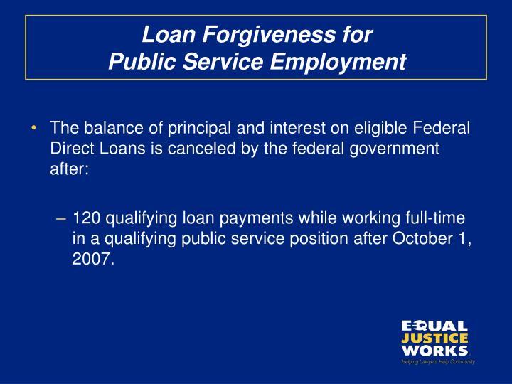 Loan Forgiveness for
