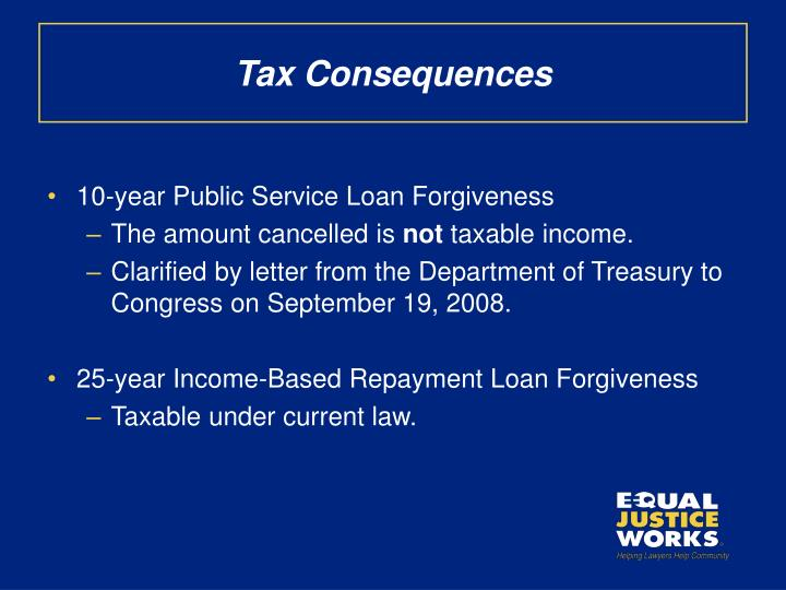 Tax Consequences