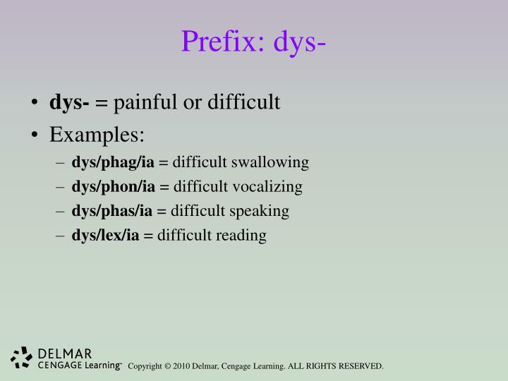 Prefix: dys-