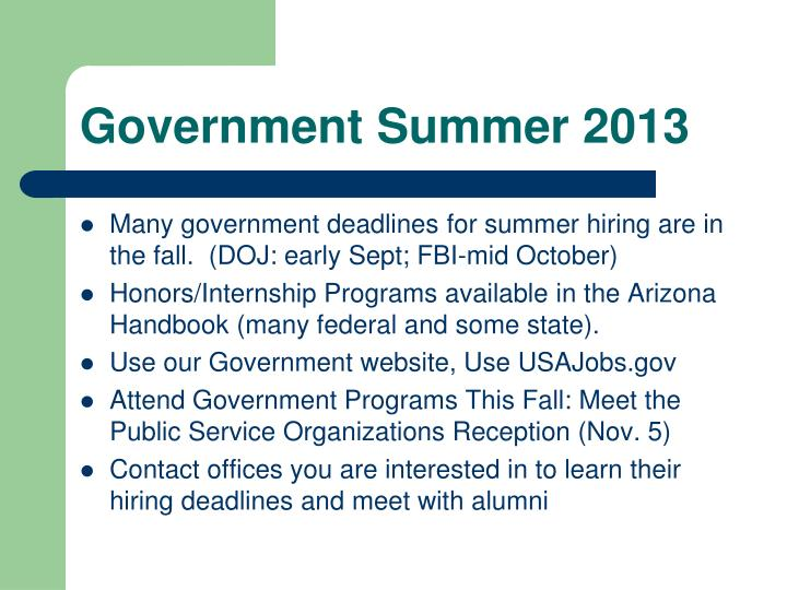 Government Summer 2013