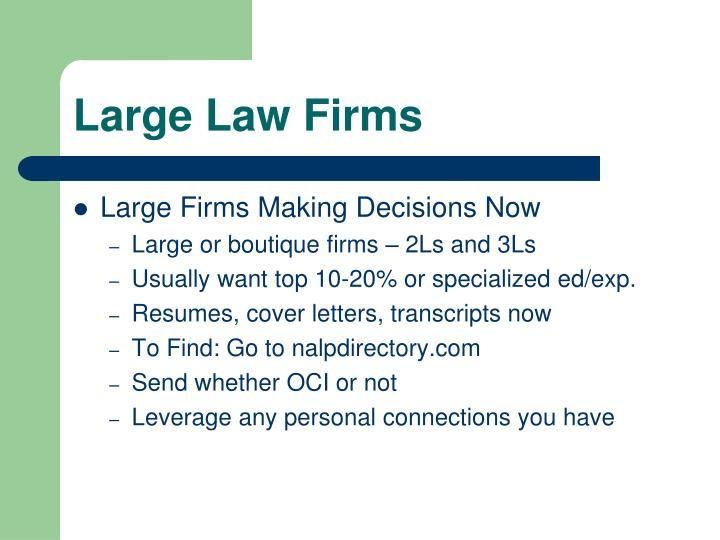 Large Law Firms