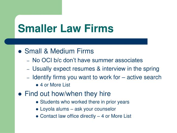 Smaller Law Firms