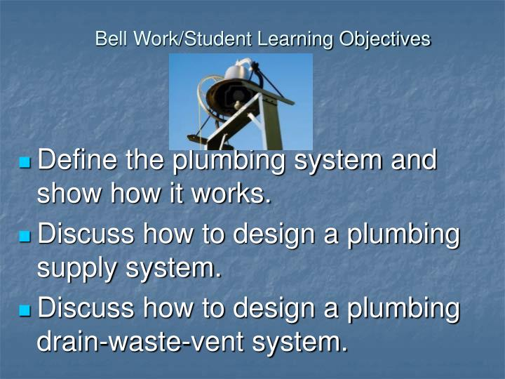 Bell work student learning objectives