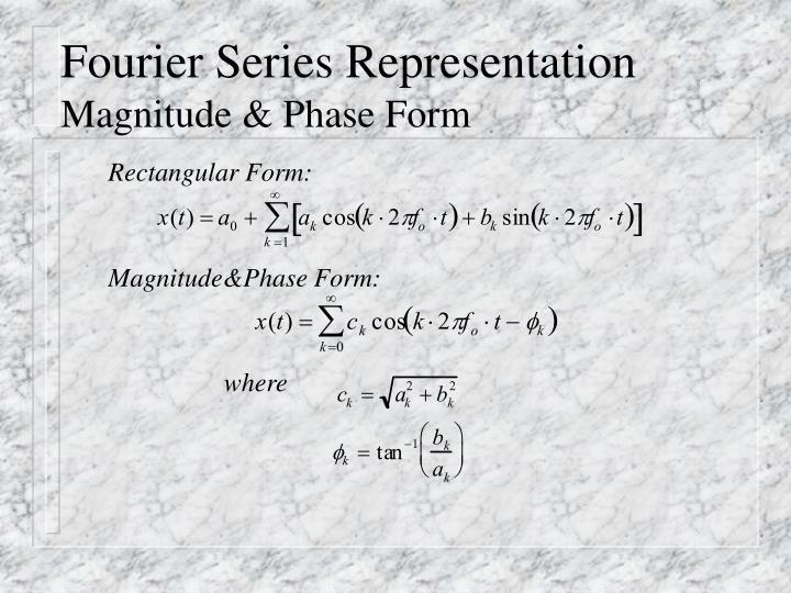 Fourier Series Representation